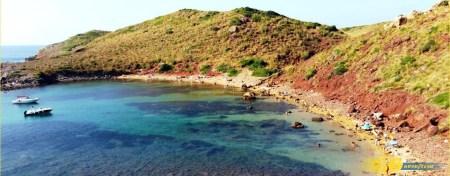 Cala Roja en Menorca