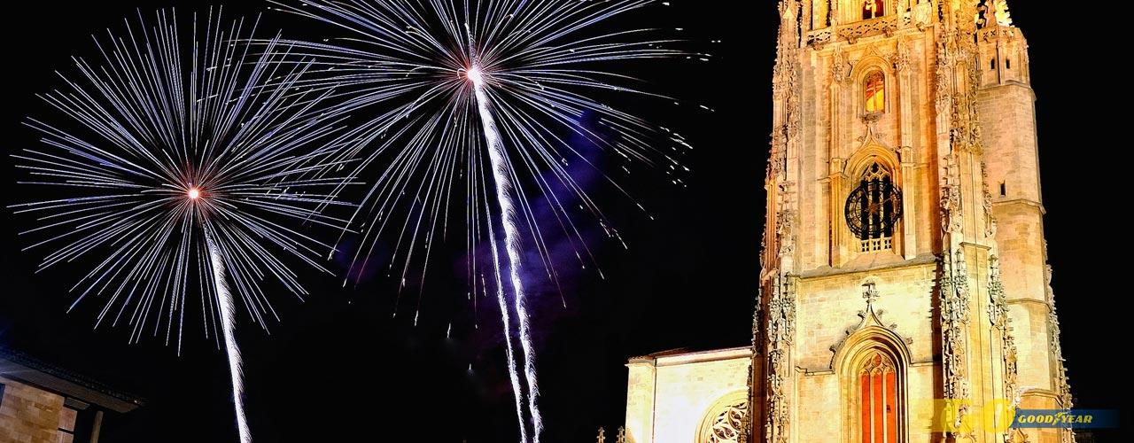 Catedral Oviedo fuegos San Mateo