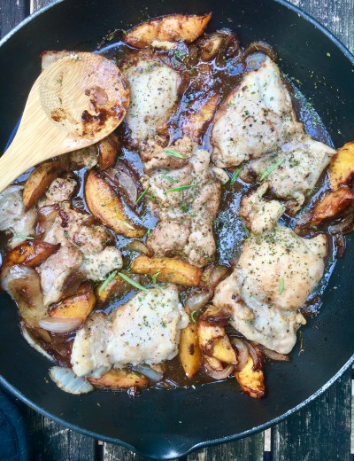 Peach Rosemary Chicken Thighs