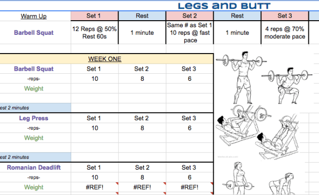 weekly workouts TLS