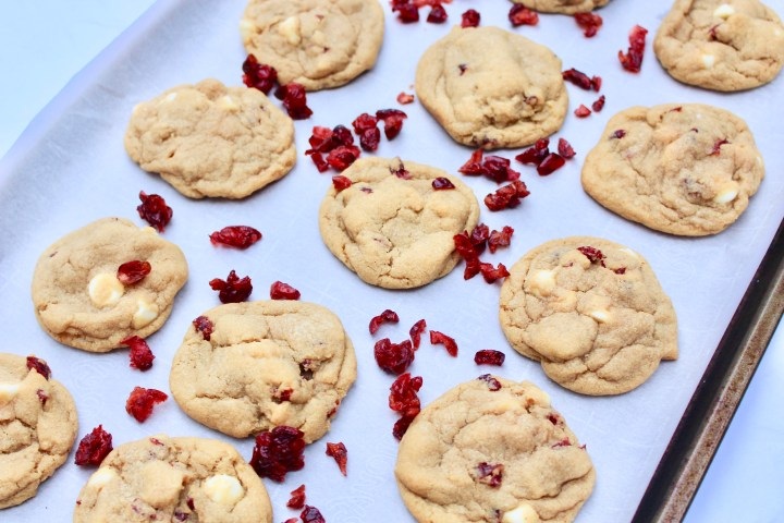 Chewy, tangy, and perfectly sweet Cranberry White Chocolate Christmas Cookies!