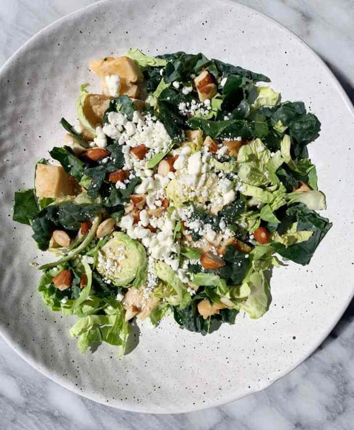Kale & Shaved Brussels Sprouts Salad