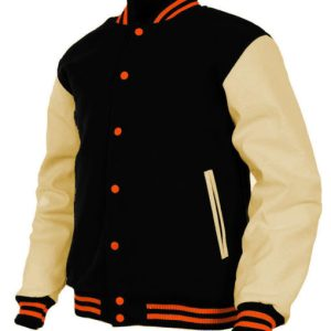 College Sports Baseball Wool&Leather Letterman Varsity Jacket
