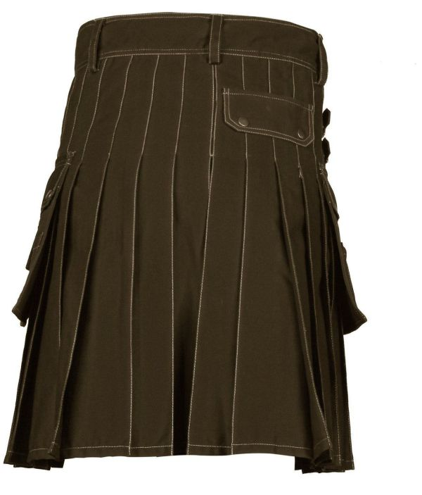Handmade-Brown-Deluxe-Utility-Fashion-Kilt-Back