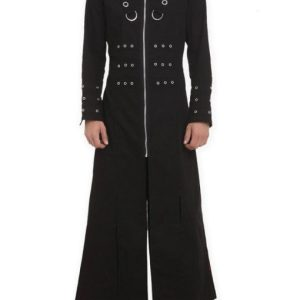 Hellraiser Goth Punk Industrial Vampire Jacket Trench Coat For Men