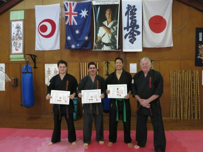 Shihan Lipman with his newly graded students