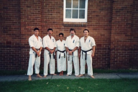 Shihan Howard and Shihan Rick (both on the right) with New Zealand branch chief Shihan Mike Kenworthy
