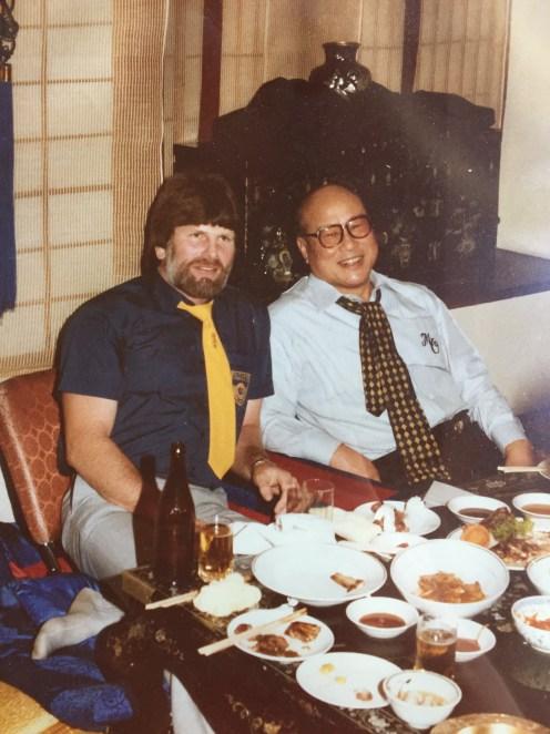 Shihan Howard & Sosai Oyama at dinner during a Branch Chiefs camp