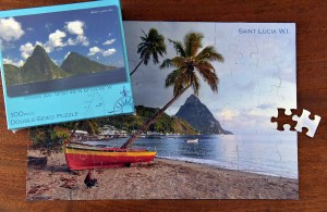 Double Sided Puzzle Saint Lucia produced by KiMAGIC