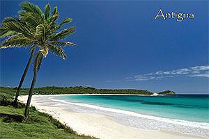 "Halfmoon Bay, Antigua W.I. Collectible Postcard ANU4636,size 153mm * 102mm ( 6"" x 4"")"