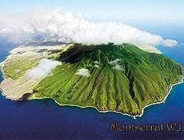 aerial postcard Montserrat
