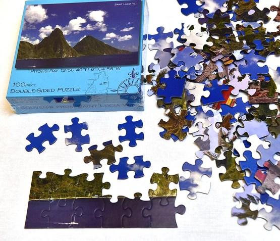 Double Sided Puzzle Saint Lucia 100pcs set