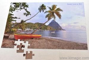 Assembled Saint Lucia Puzzle- great entertainment for families