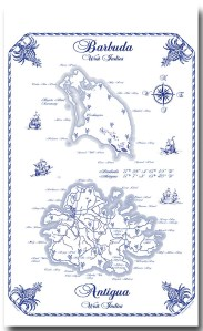 Antigua and Barbuda map Towel