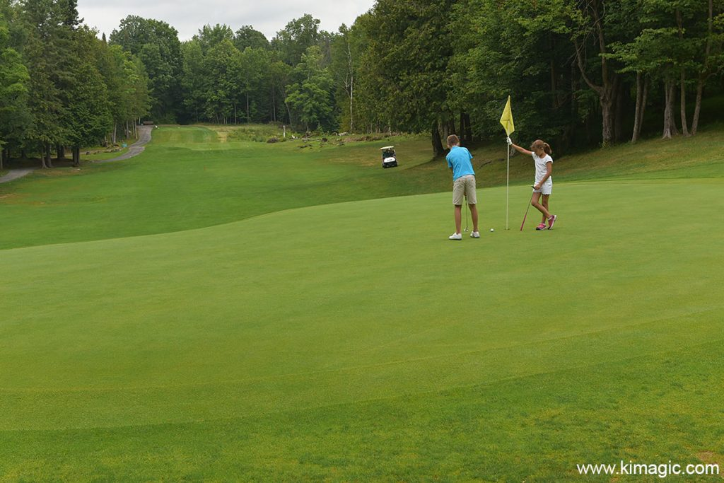 Golfing at Blue Heron Golf Club in Lanark County