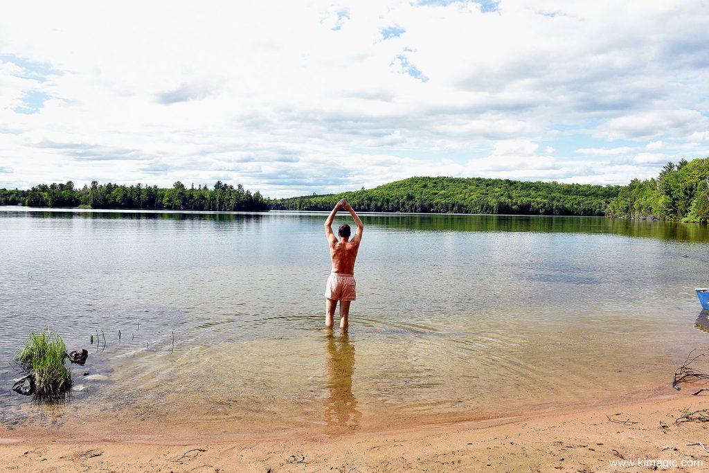 Swimming in Jobammageesheg Lake