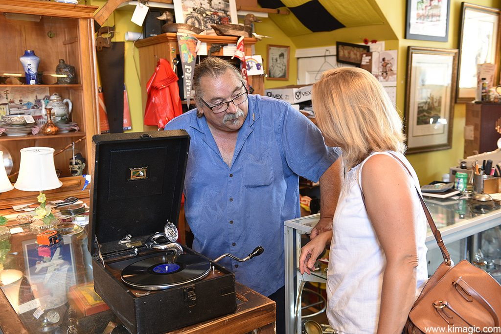 Shopping for antiques, Perth, Ontario