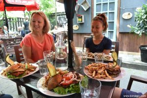 Lunch at Rocky River Cafe, Perth, Ontario