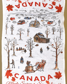 Canada Maple Syrup Linen kitchen towel