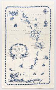 Linen Tea Towel Caribbean Islands Nautical Style Kitchen Decor