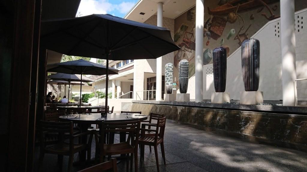 ホノルル美術館のカフェ