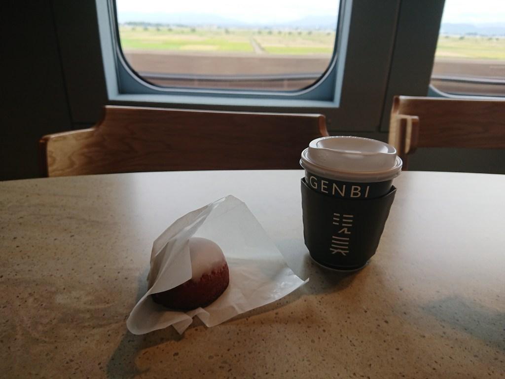 現美新幹線のカフェ