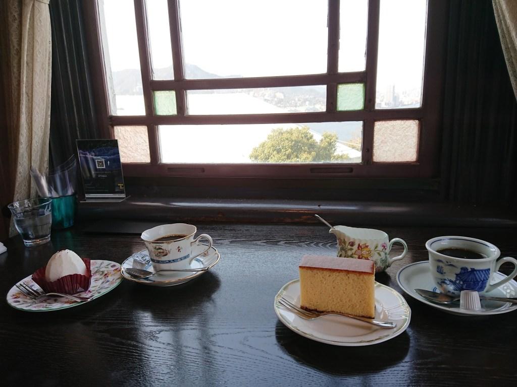 グラバー園のカフェ