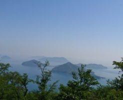 紫雲出山の展望台からの眺望