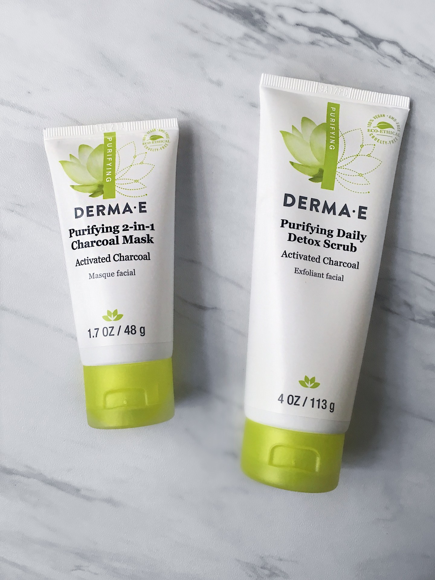 Trying Aloe & Charcoal Skincare | DERMA-E Review