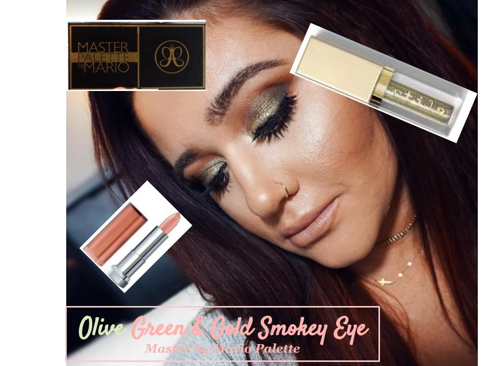 Olive Green & Gold Makeup Tutorial