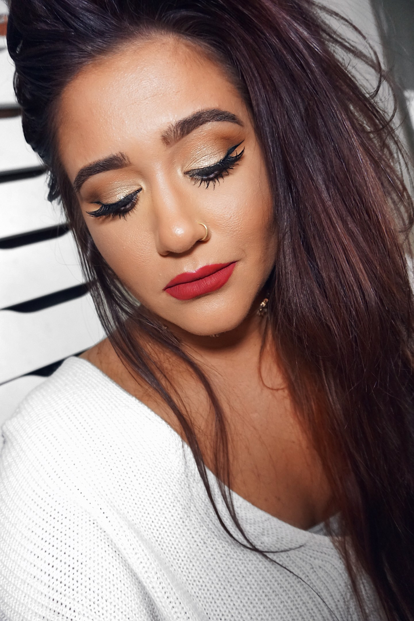 Night Out Look: Soft Glam + Red Lips