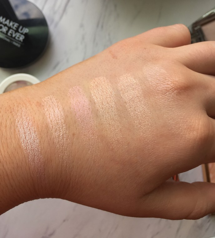 swatches in natural light