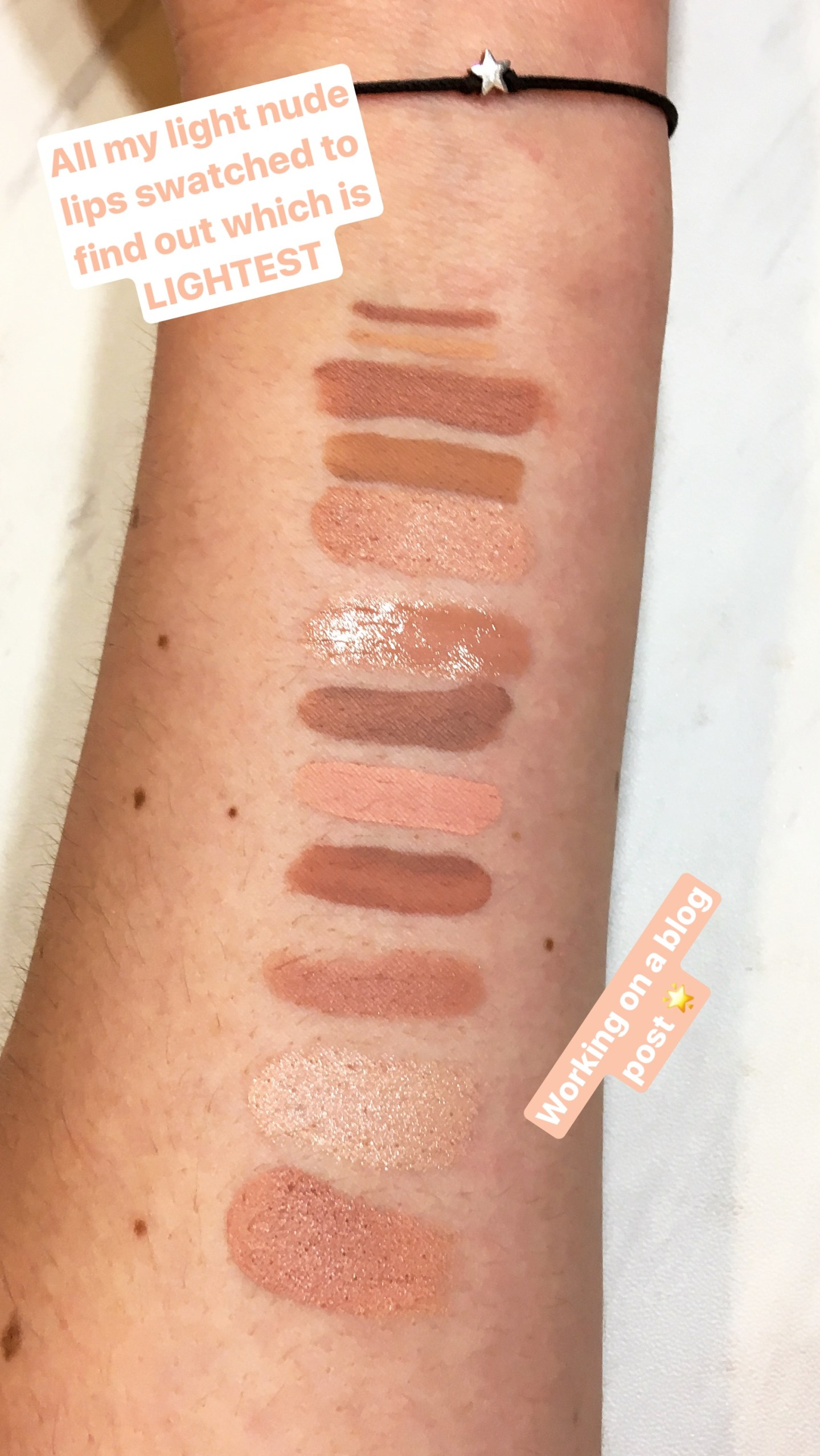 Concealer Nude Lipstick Swatches