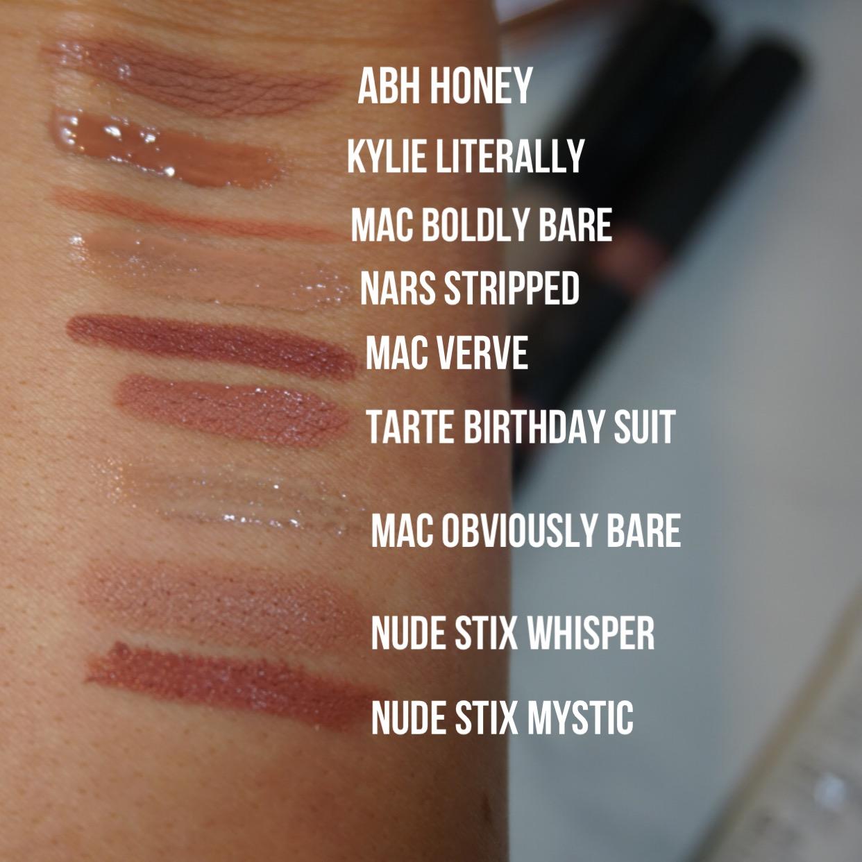 everyday makeup bag lipsticks