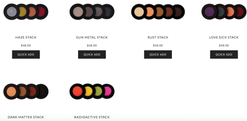 melt cosmetics stack
