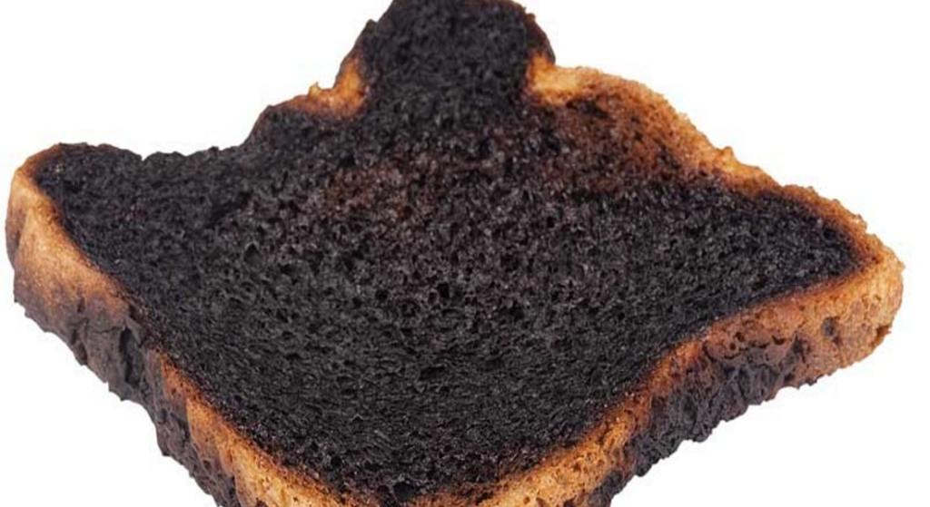 silver lining to burnt toast