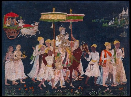 Qutub Shah Bhagmati wedding paiting
