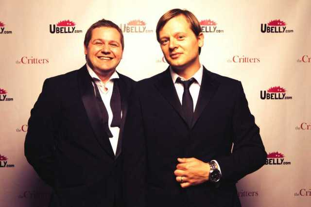 Matt (left) and I at the uBelly Awards, London in 2013