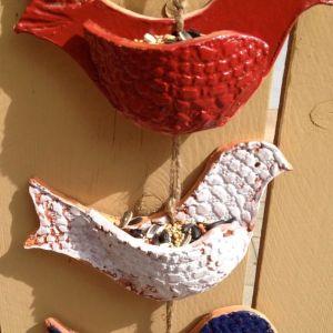 Clay Bird Feeders