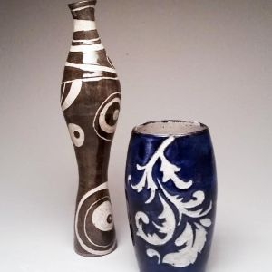Surface Design with Sgraffito on Handmade Coil Pots 2_Amber Egbert 2