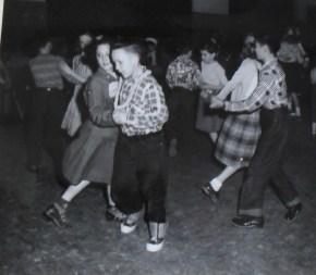 Square dancing at PTA Carnival Fundraiser ~ Courtesy Kimball Elementary