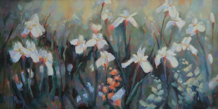 White Iris 18 x 36 c2015