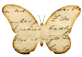 Butterfly handwriting image