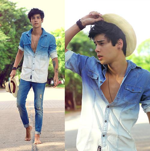 camisa-jeans-masculina-degrade-moderna