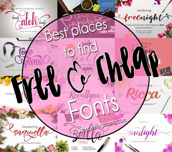 Best Places to find Free and Cheap Fonts!