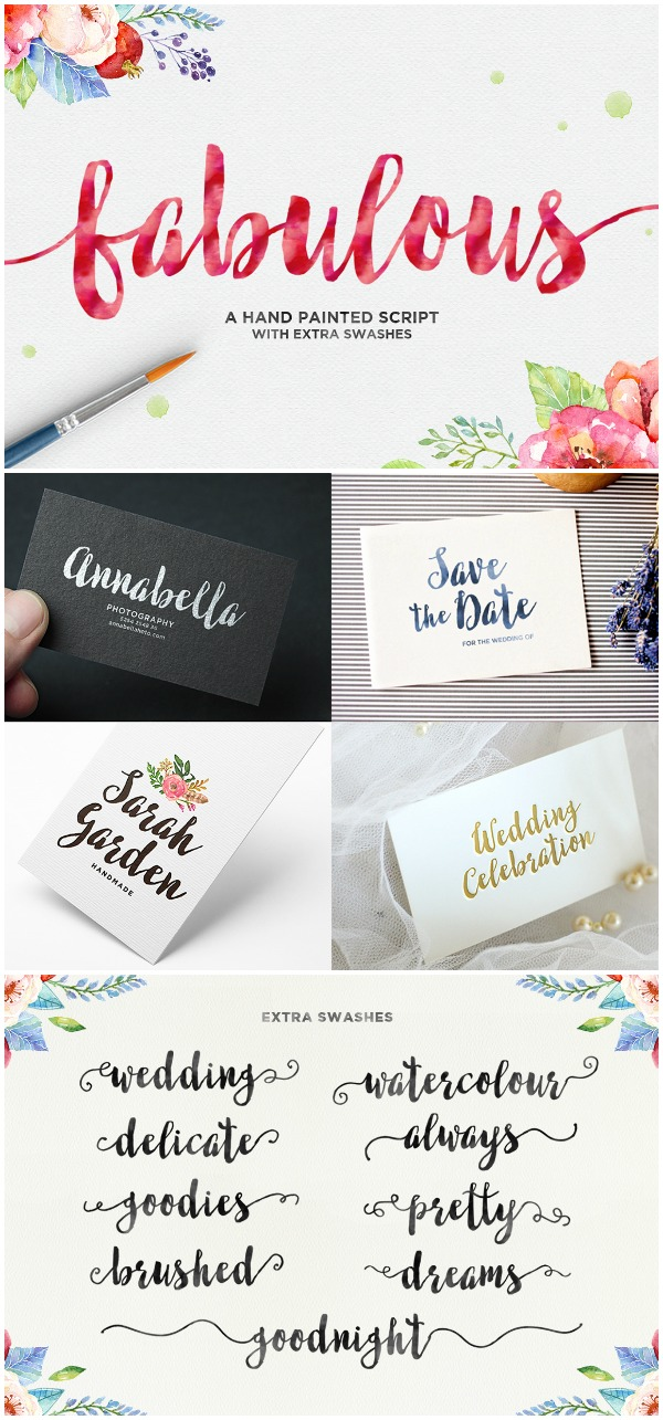Font Favorites: Fabulous Font. This bold brushed script is perfect for any casual and elegant project.