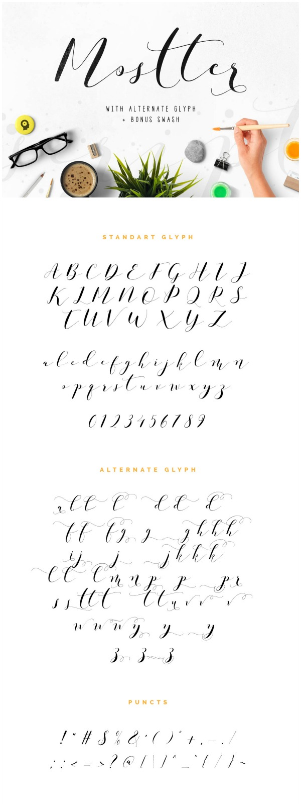 Favorite Fonts: Mostter Font. This script font is so pretty and has tons of really beautiful alternate characters.