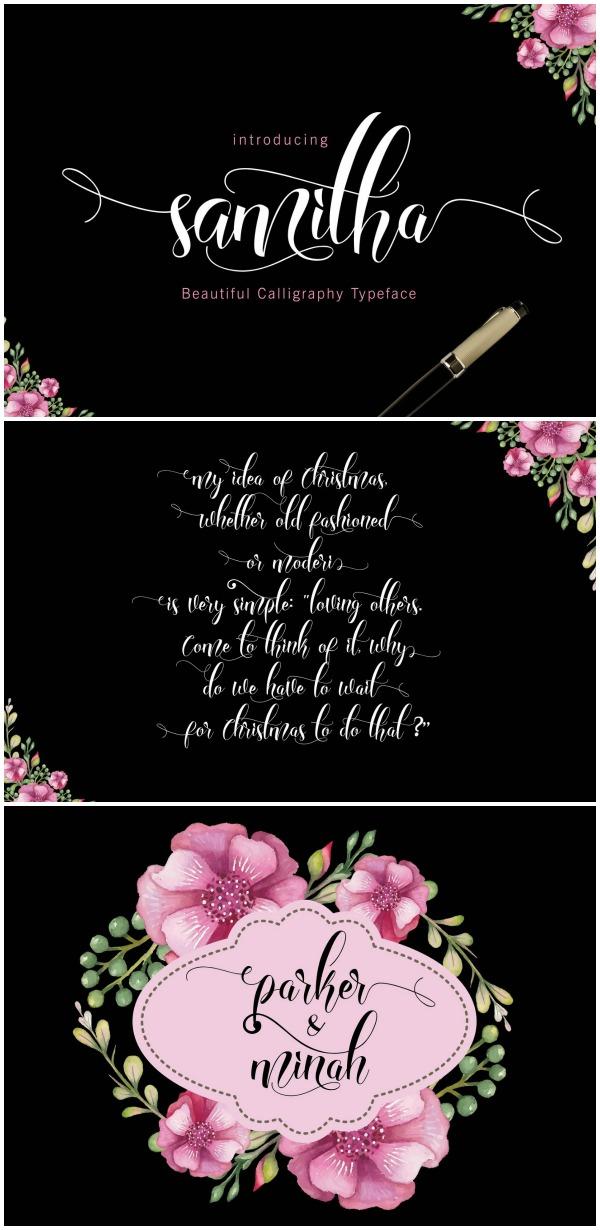 Font Favorites: Samitha font