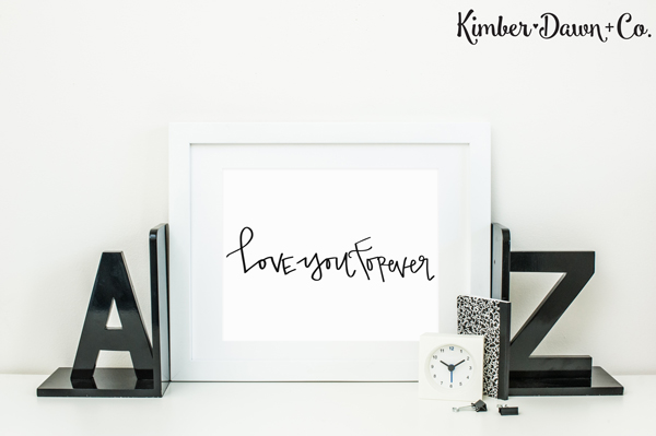 Hand Lettered Love You Forever Free SVG Cut File