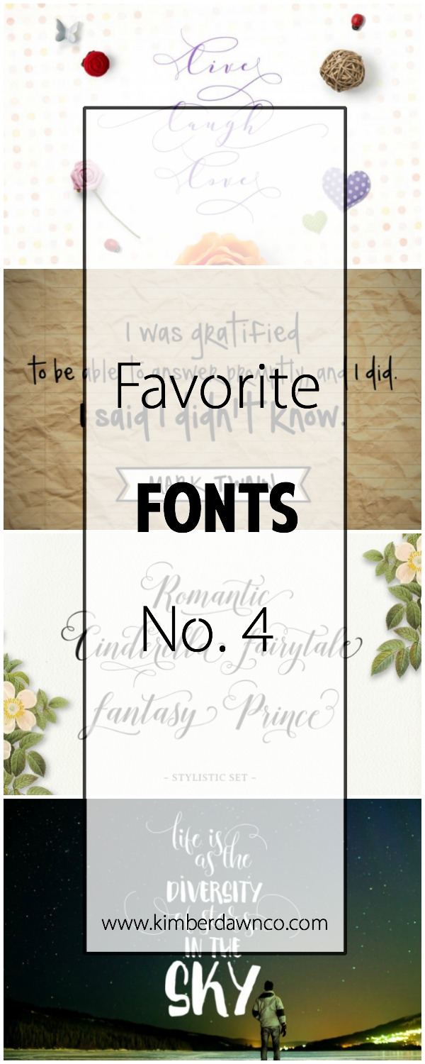 Favorite Fonts No. 4 | www.kimberdawnco.com